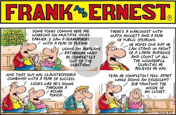 Frank and Ernest on Sunday September 11, 2016 Comic Strip
