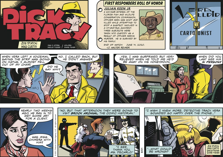 Dick Tracy Comic Strip for August 01, 2021