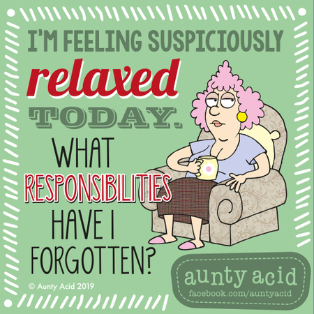 Aunty Acid by Ged Backland for May 13, 2019