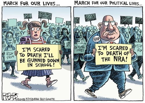 Rob Rogers on Sunday March 25, 2018 Comic Strip