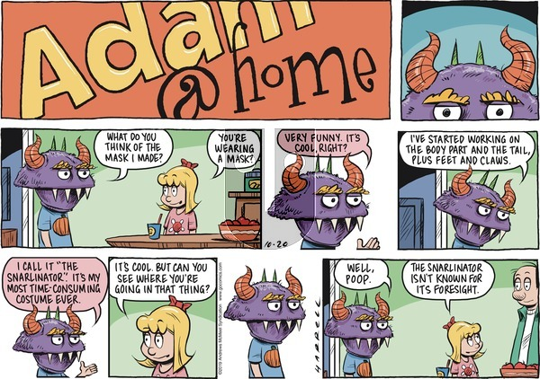 Adam@Home on Sunday October 20, 2019 Comic Strip