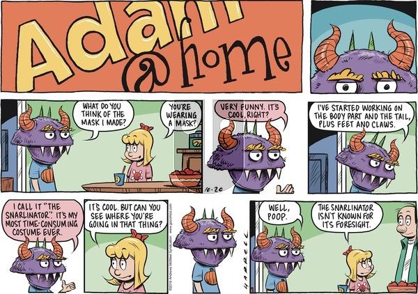 Adam@Home on Sunday October 20, 2019 Comic Strip