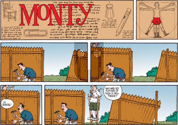Monty on Sunday August 7, 2011 Comic Strip