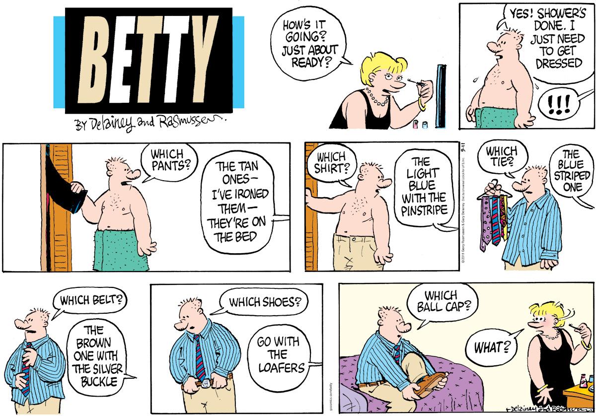 Betty Comic Strip for September 11, 2011