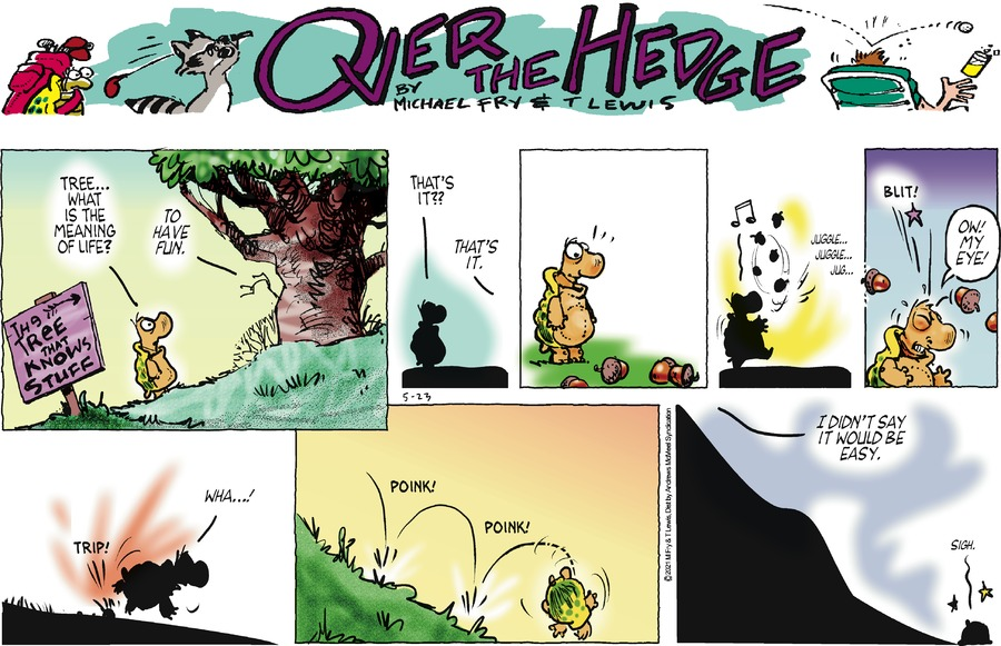 Over the Hedge Comic Strip for May 23, 2021