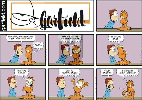 Garfield on Sunday April 7, 2019 Comic Strip