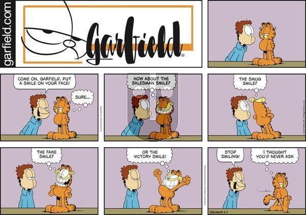 Garfield on Sunday April 7, 2019 Comic Strip