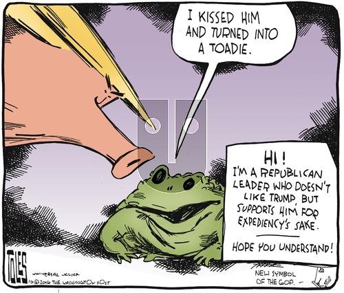 Tom Toles on Sunday October 23, 2016 Comic Strip