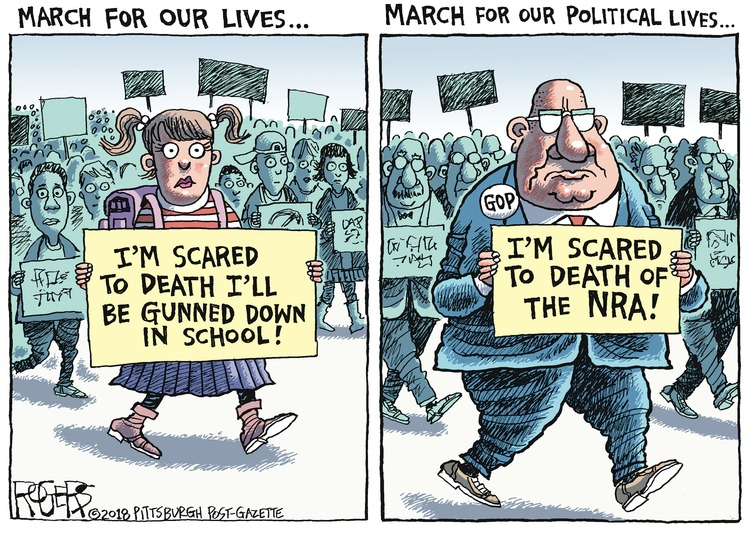 Rob Rogers Comic Strip for March 25, 2018