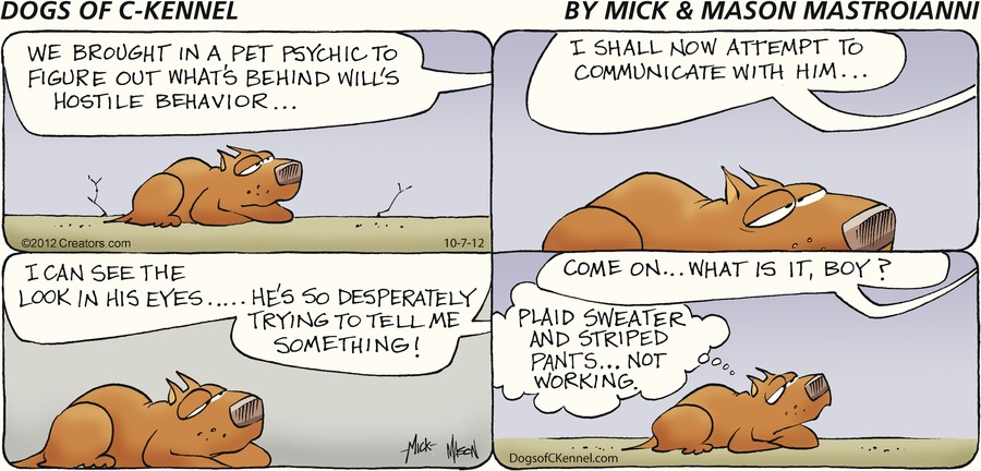 Dogs of C-Kennel for Oct 7, 2012 Comic Strip