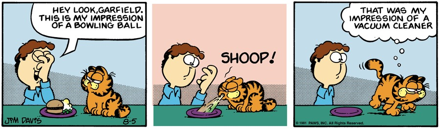 Garfield Classics by Jim Davis for August 11, 2019