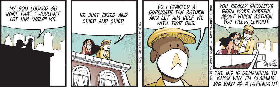 Candorville Comic Strip for May 17, 2021