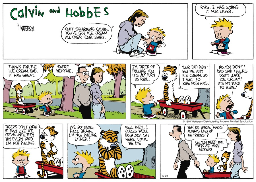 Calvin and Hobbes by Bill Watterson on Sun, 24 Oct 2021
