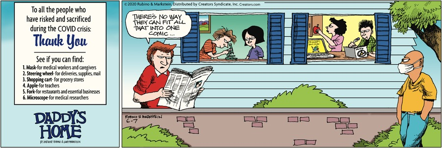 Daddy's Home Comic Strip for June 07, 2020