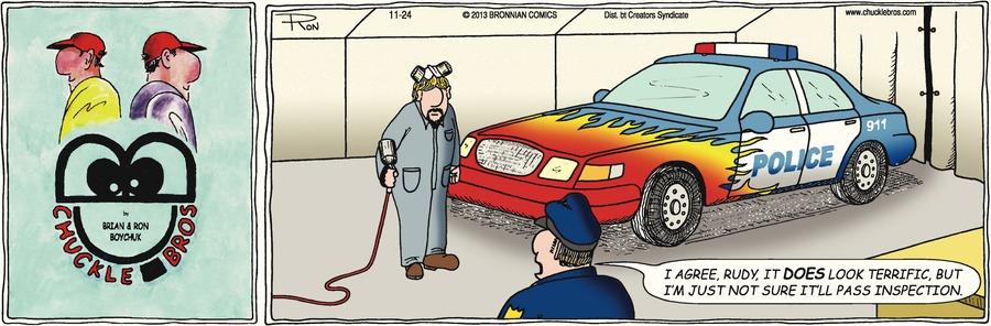 Chuckle Bros Comic Strip for November 24, 2013