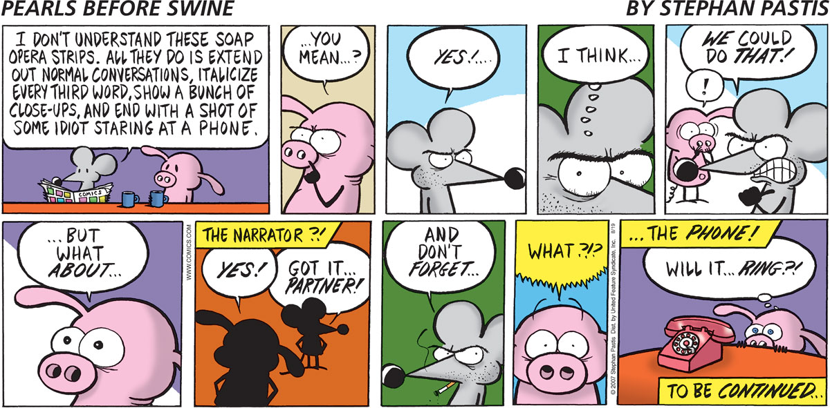 Pearls Before Swine Comic Strip for August 19, 2007