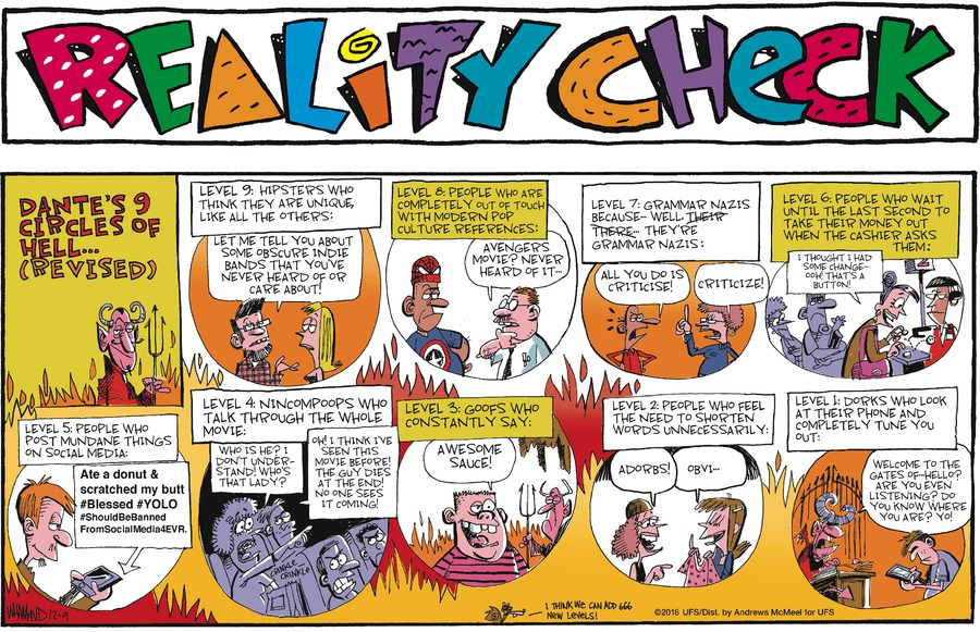 Reality Check Comic Strip for December 09, 2018