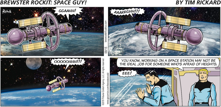 Brewster Rockit by Tim Rickard for September 15, 2019