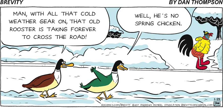 Brevity for Jan 29, 2017 Comic Strip