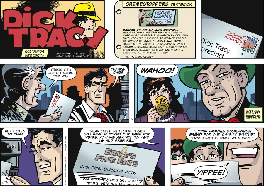 Dick Tracy Comic Strip for July 08, 2018