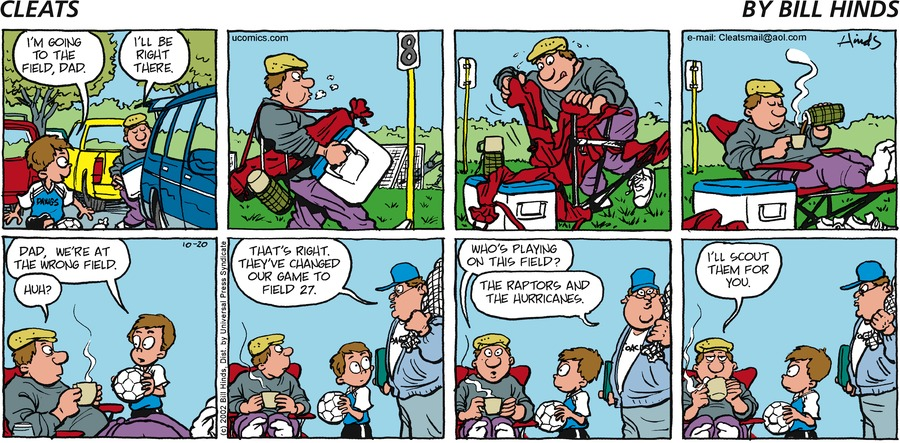 Cleats for Oct 20, 2002 Comic Strip