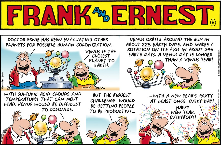 Frank and Ernest Comic Strip for December 30, 2018