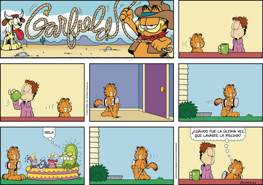 Garfield en Español Comic Strip for August 02, 2020