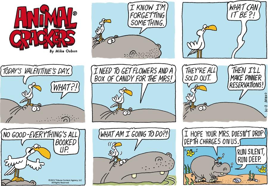 Animal Crackers by Mike Osbun on Sun, 14 Feb 2021