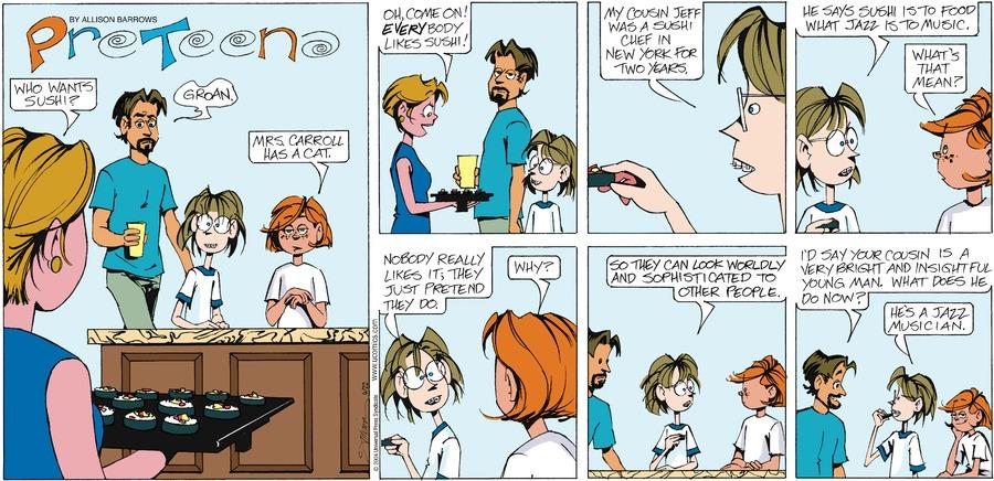 PreTeena Comic Strip for August 01, 2021