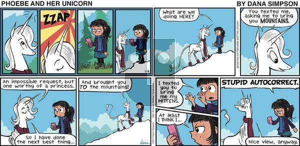 Phoebe and Her Unicorn on Sunday January 8, 2017 Comic Strip