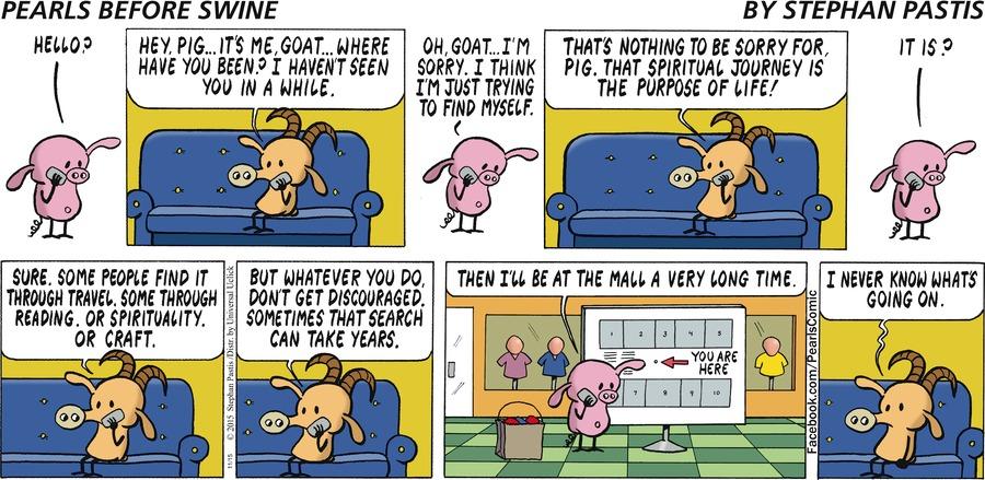 Pearls Before Swine Comic Strip for November 15, 2015