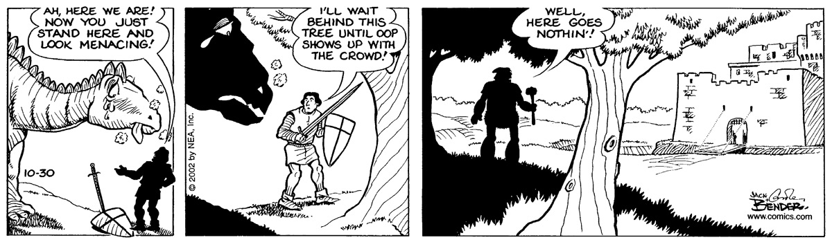 Alley Oop for Oct 30, 2002 Comic Strip