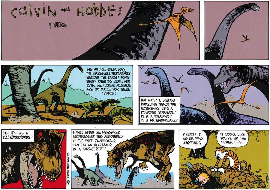 Calvin and Hobbes Comic Strip for April 27, 2014