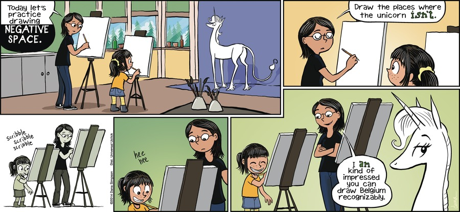 Phoebe and Her Unicorn for Feb 3, 2013 Comic Strip
