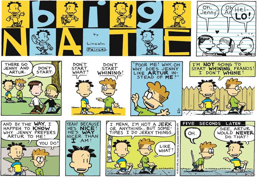 Big Nate for Mar 18, 2012 Comic Strip