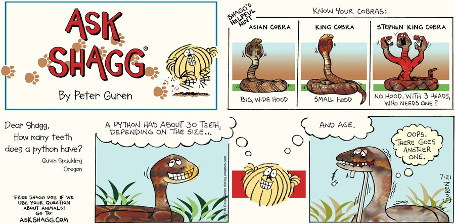 Ask Shagg Comic Strip for July 21, 2019