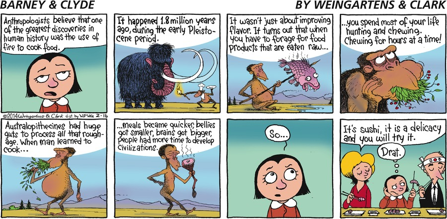 Barney & Clyde Comic Strip for February 16, 2014
