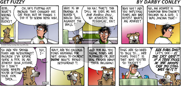 Get Fuzzy on Sunday May 10, 2009 Comic Strip