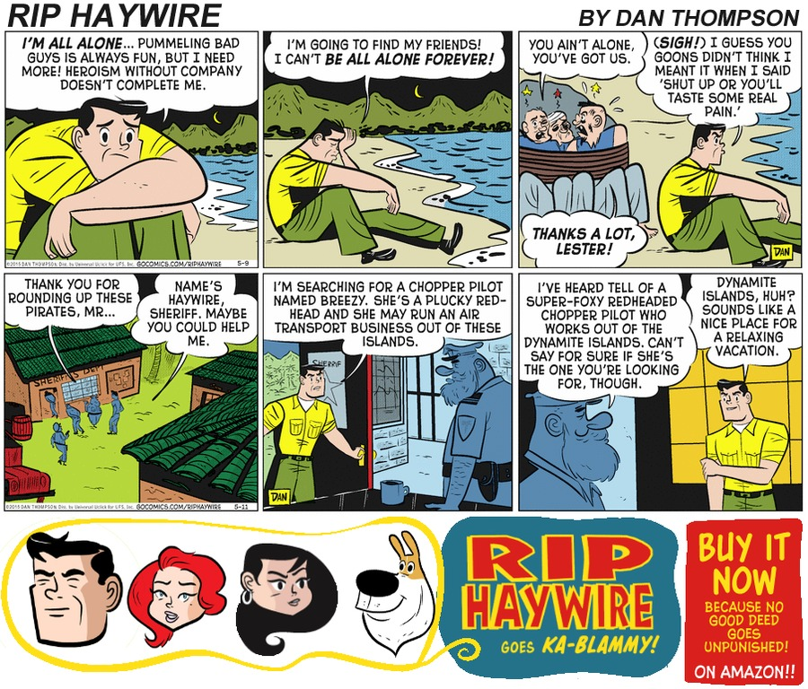 Rip Haywire Comic Strip for April 23, 2017