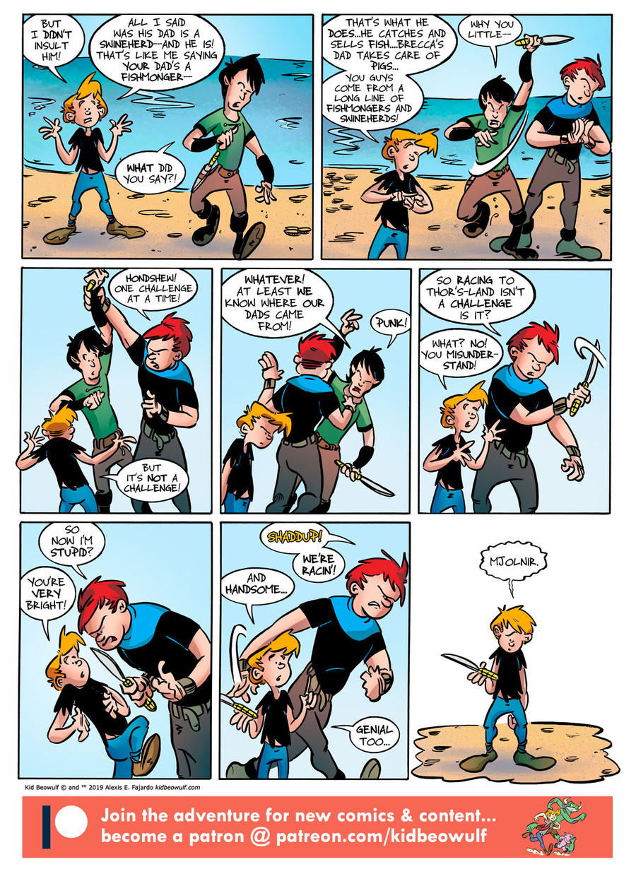 Kid Beowulf Comic Strip for October 16, 2019