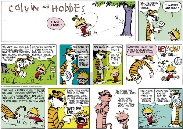 Calvin and Hobbes - Sunday August 23, 2020 Comic Strip