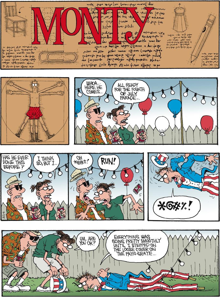 Monty Comic Strip for July 04, 2021