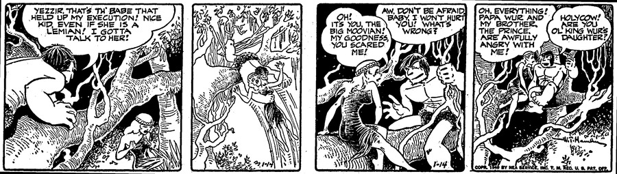 Alley Oop Comic Strip for January 14, 1949