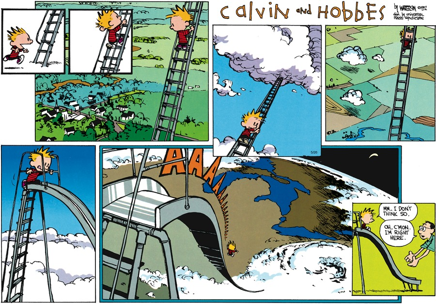 Calvin and Hobbes Comic Strip for July 12, 1992