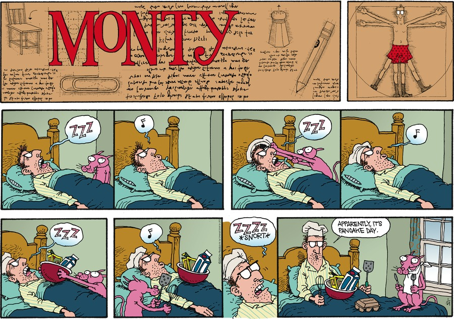 Monty Comic Strip for January 29, 2012