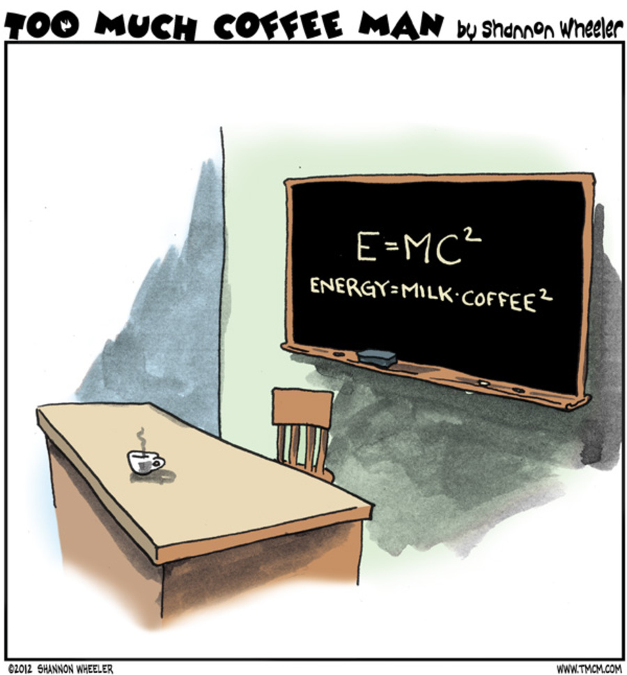 Too Much Coffee Man for Dec 12, 2012 Comic Strip