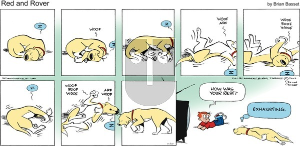 Red and Rover - Sunday November 17, 2019 Comic Strip