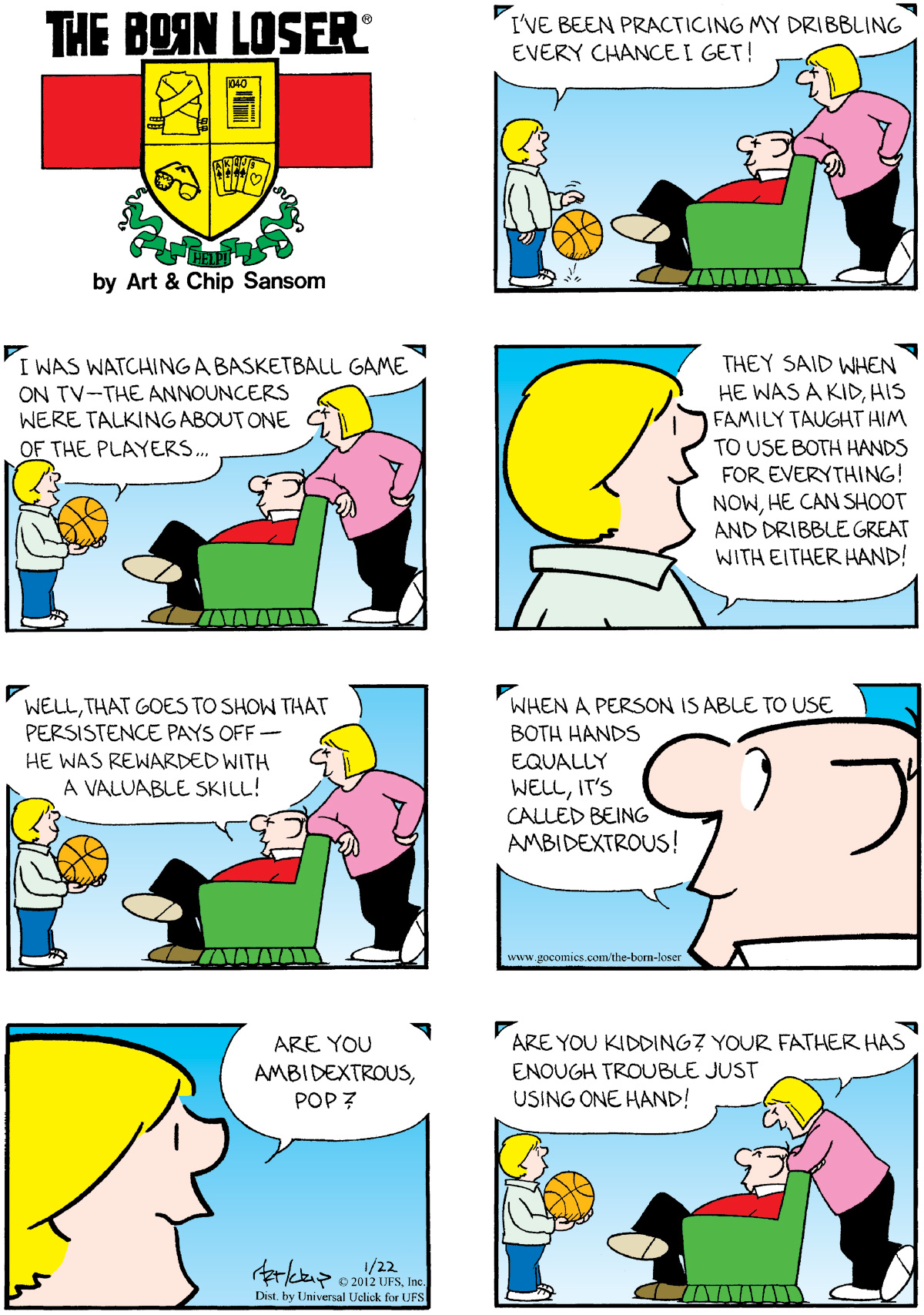 The Born Loser for Jan 22, 2012 Comic Strip