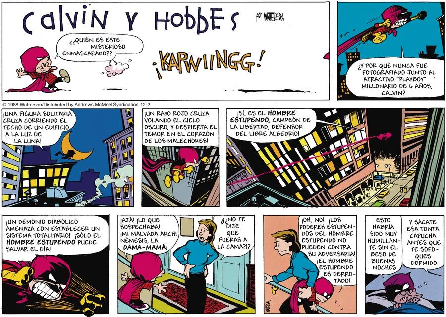Calvin and Hobbes en Español by Bill Watterson for December 02, 2018