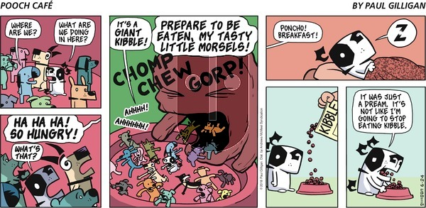 Pooch Cafe on Sunday June 24, 2018 Comic Strip